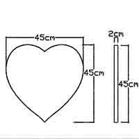 plaques coeur cad