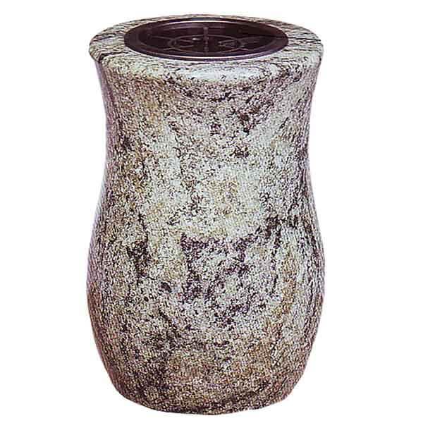 vase funéraire granit gris