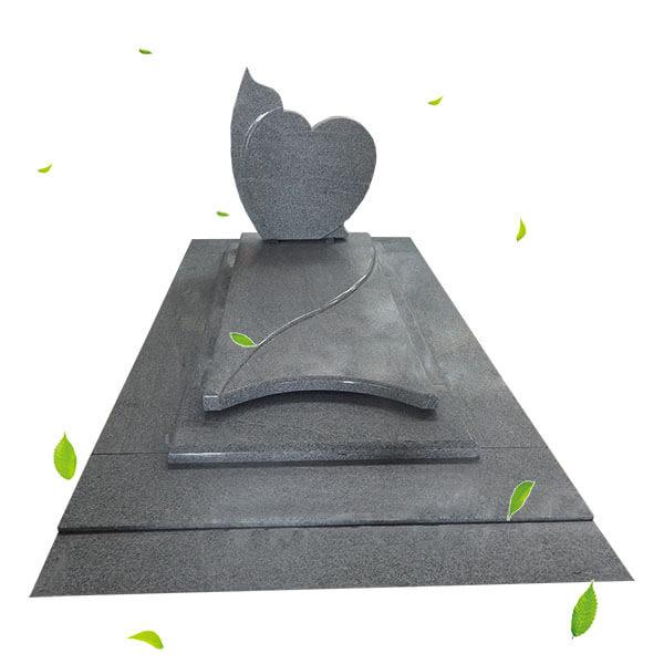 pierres tombales en forme de coeur pour les tombes