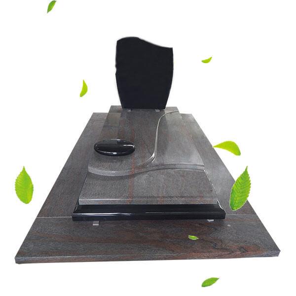 pierre tombale en granit brut