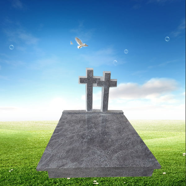 conception de la pierre tombale double en forme de croix. Black Bedroom Furniture Sets. Home Design Ideas