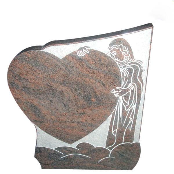 plaque funeraire en forme de coeur