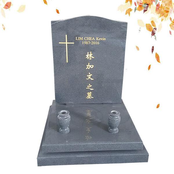 pierre tombale avec croix