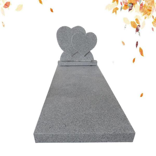 pierre tombale double coeur