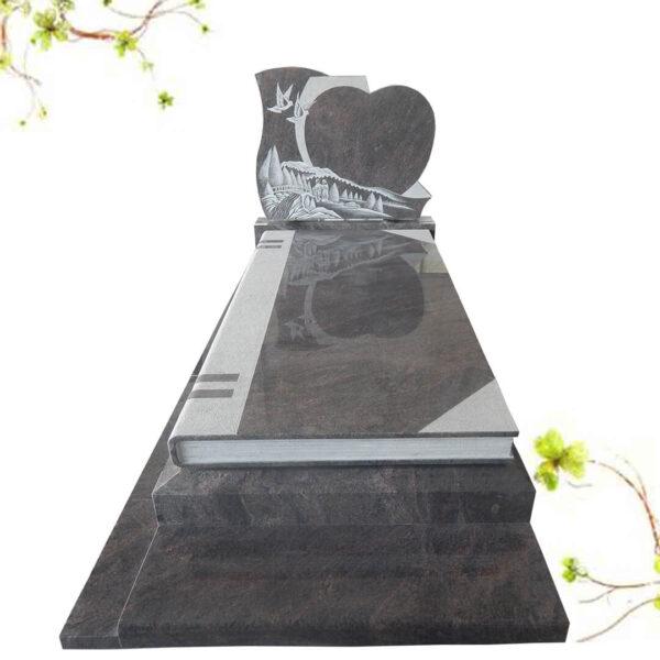 pierre tombale en forme de livre