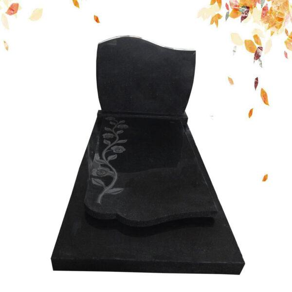 pierre tombale granit noir