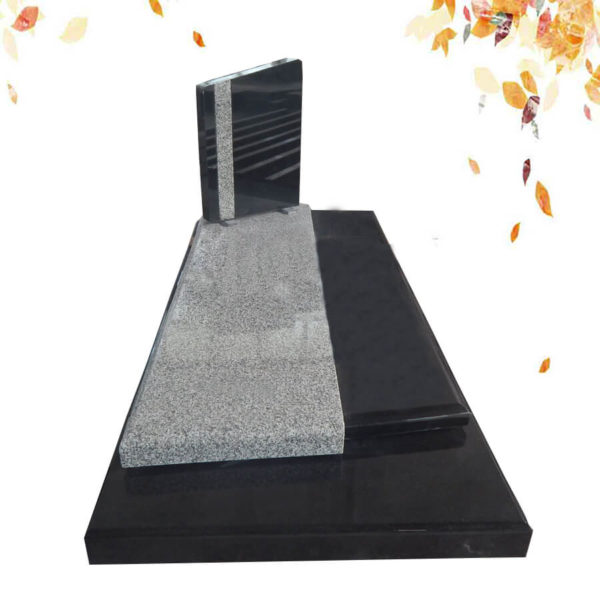 pierre tombale marbre noir