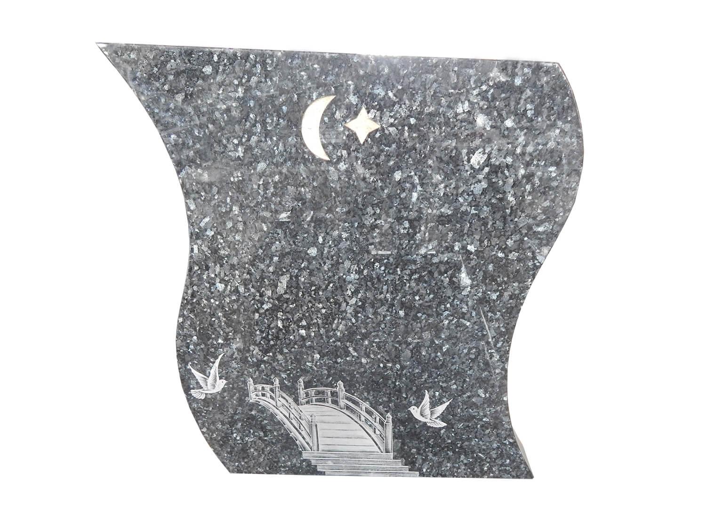 monument fun raire musulman granit blue pearl avec vase. Black Bedroom Furniture Sets. Home Design Ideas