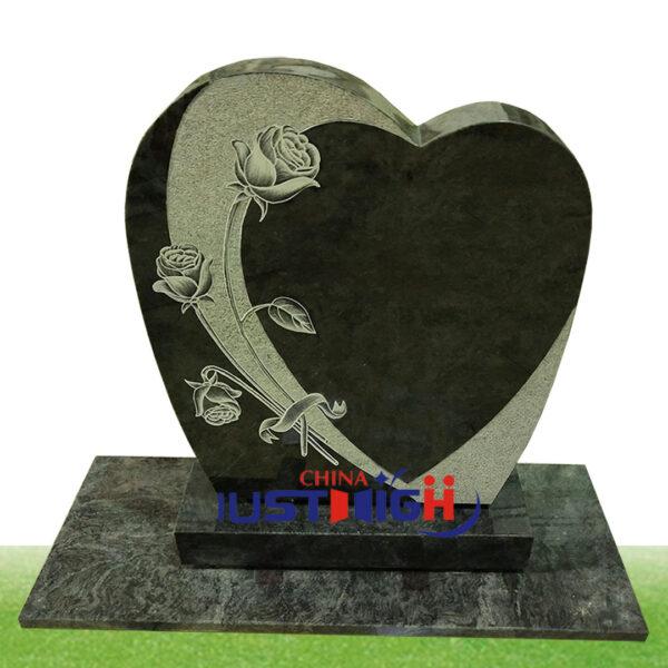 pierre tombale en forme de coeur