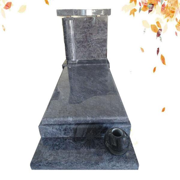 pierre tombale granit bleu