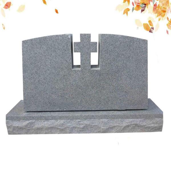Pierre tombale croix en granit GRIS
