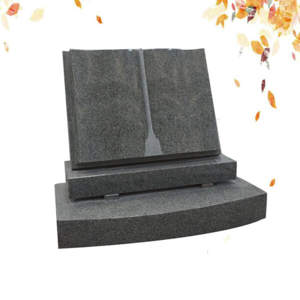 Pierre tombale en granit en forme de livre