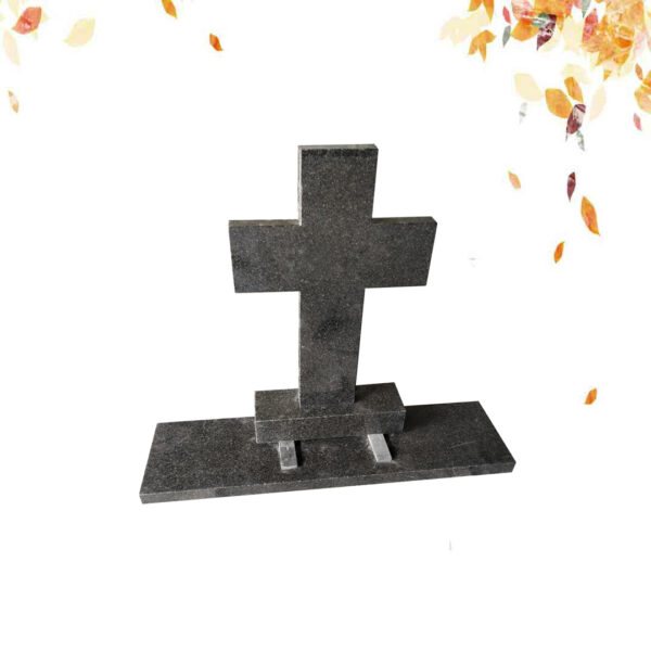 Pierre tombale en granit cross