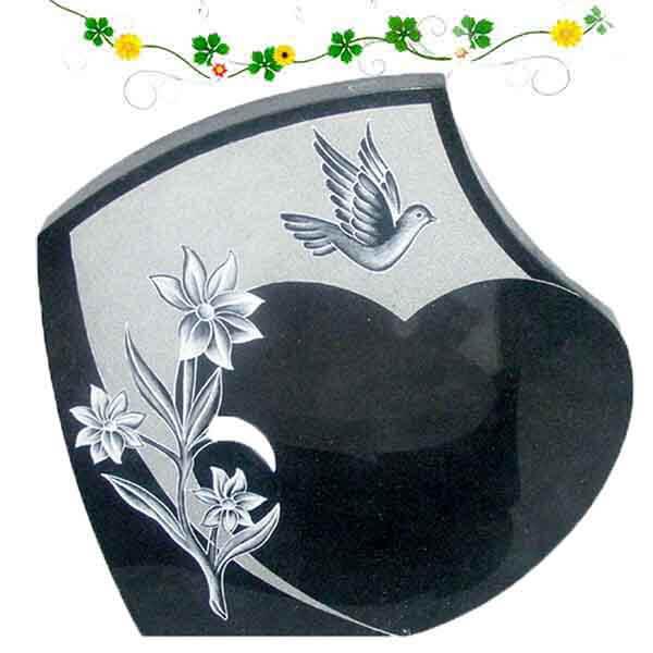 fleur plaque funéraires