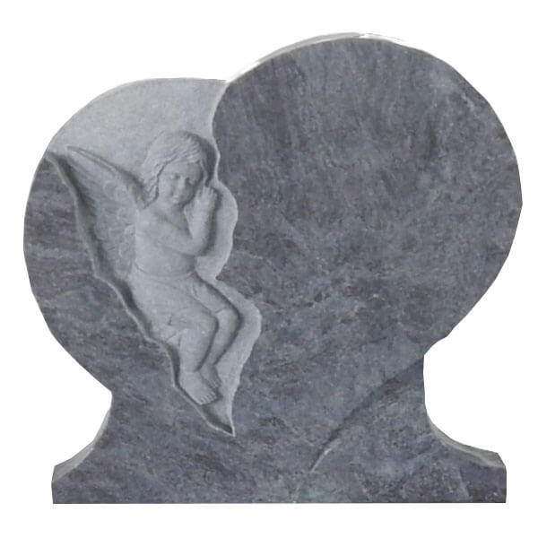 enfant sculpt en forme de coeur avec vase. Black Bedroom Furniture Sets. Home Design Ideas