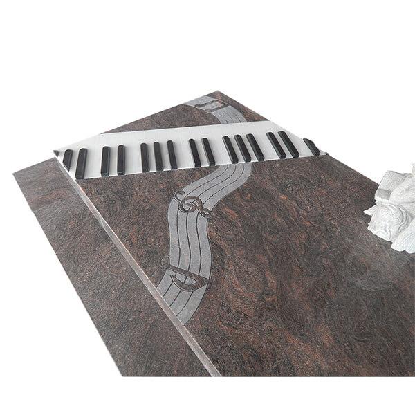 pierre tombale avec des notes de musique piano touches. Black Bedroom Furniture Sets. Home Design Ideas