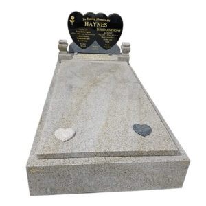double heart headstone wholesale from china